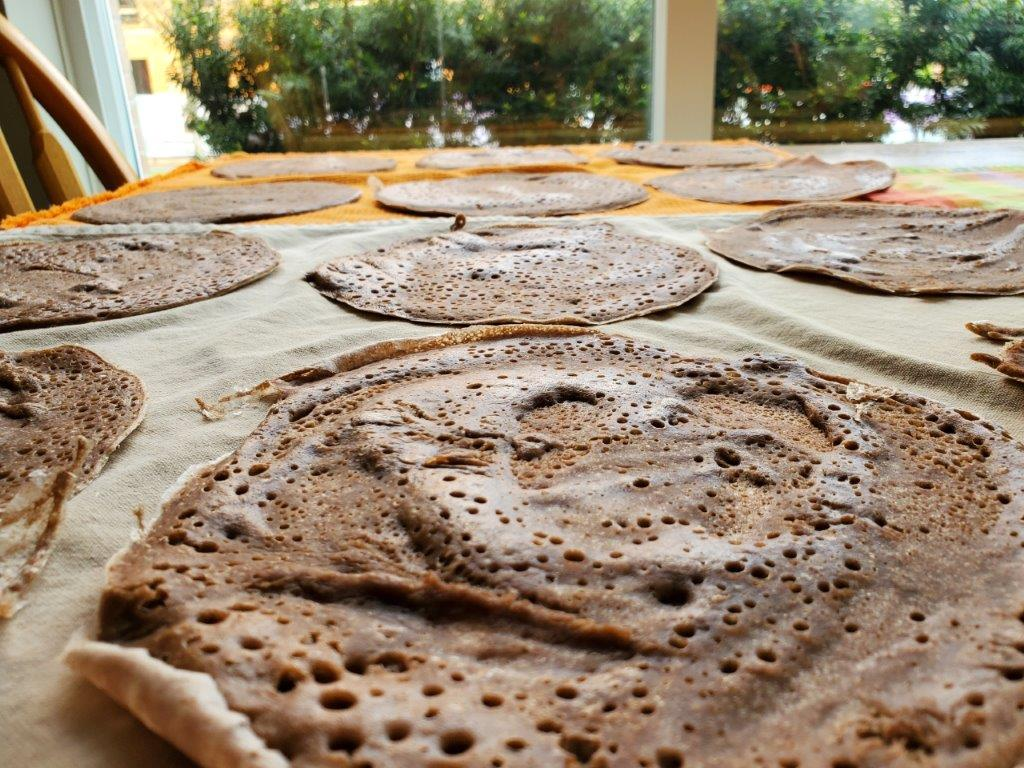 Cooked injera