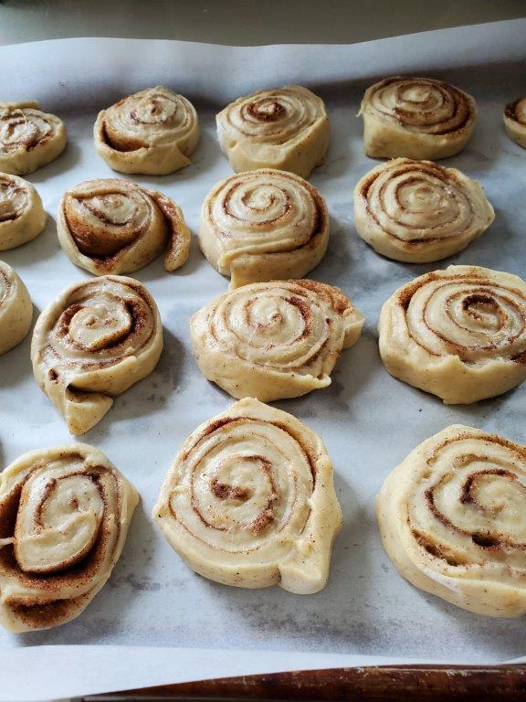 Unbaked Finnish rolls.