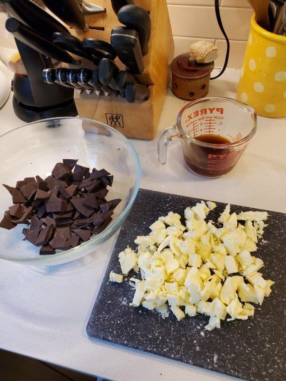Butter, coffee, and chocolate