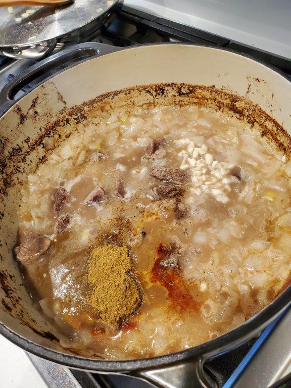 Seasonings going into broth