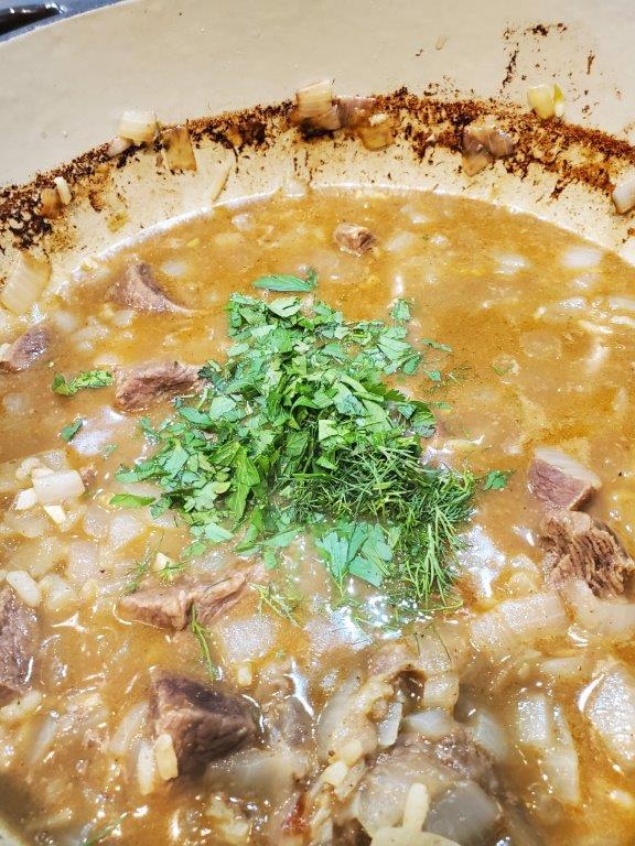 Finished Georgian stew
