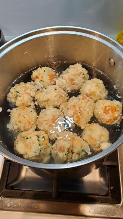 Boiling dumplings