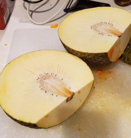 Halved breadfruit